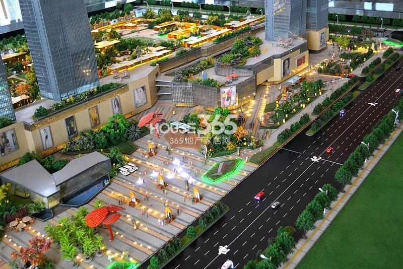 国润城商业街沙盘图(2013年7月15日)