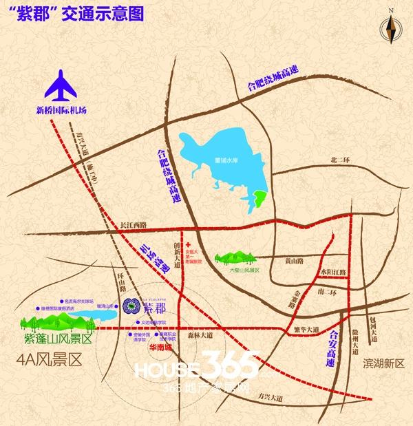 紫郡庄园交通图
