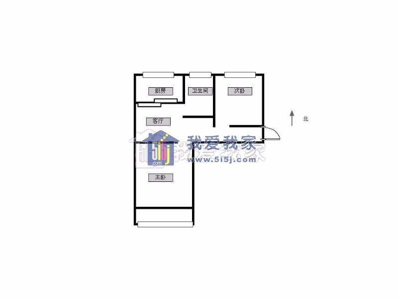 北京西路 云南路 西桥小区 南北通透 4楼 精装修 两室