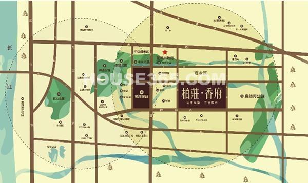 柏庄香府交通图
