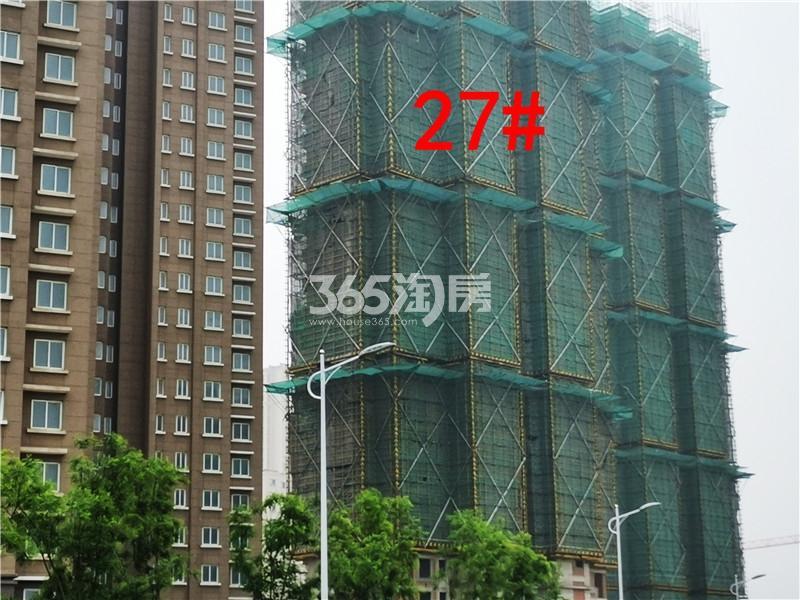 金色年华三期27#楼工地实景图(4.25)