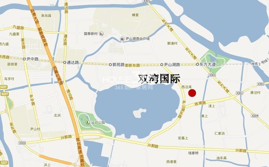 山湖一号交通图