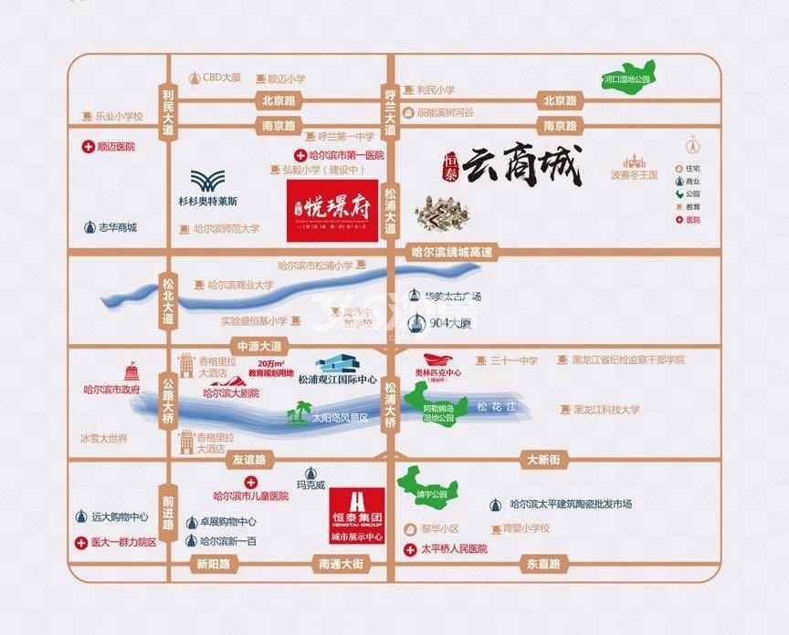 恒泰·悦璟府交通图