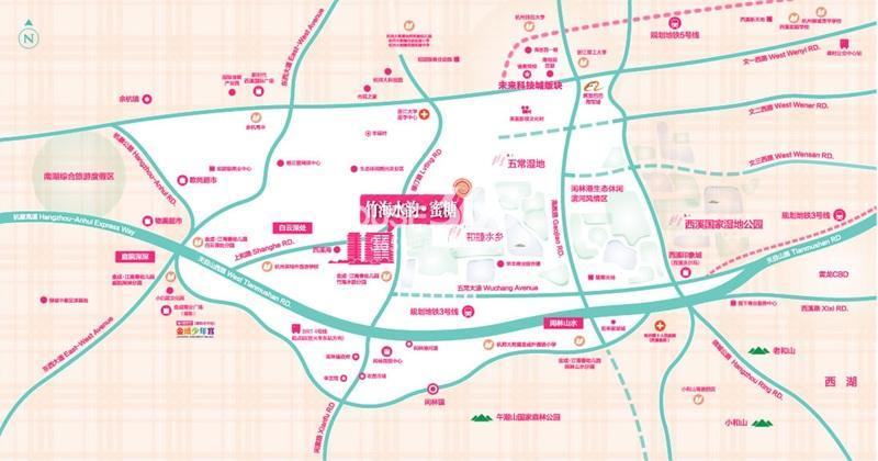 金成竹海水韵交通图