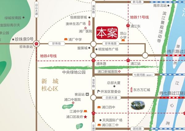 恒辉假日广场交通图