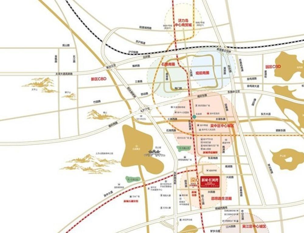 新城红树湾交通图