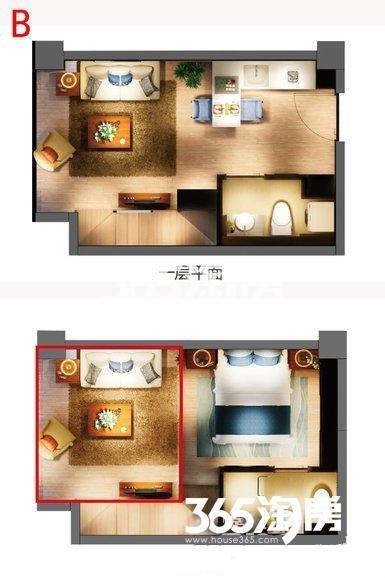 嘉丰万悦城酒店式公寓B户型40方