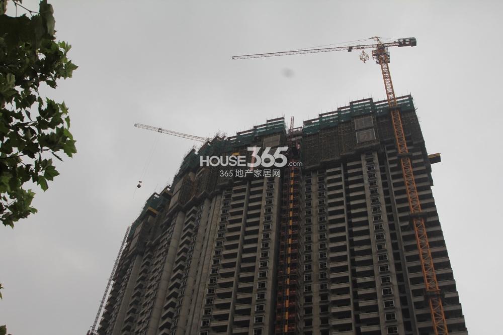 世茂外滩新城6号楼超高层主体还在建造中(10.12)