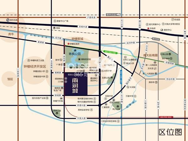雨润城·星雨华府交通图