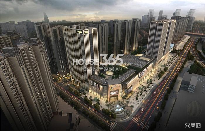 龙湖龙誉城商业鸟瞰图