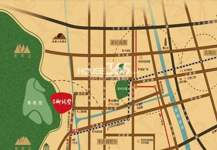 世茂御珑墅交通图