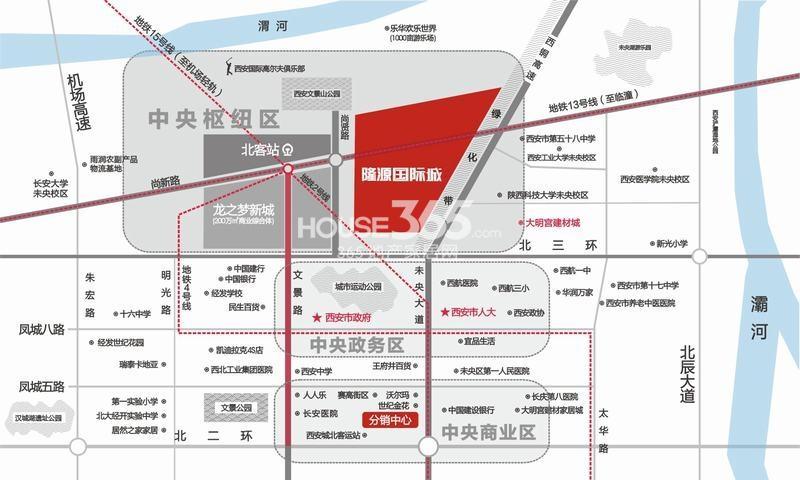 隆源国际城交通图