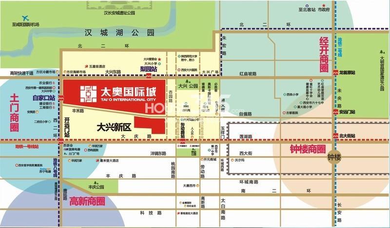 太奥广场(住宅)交通图