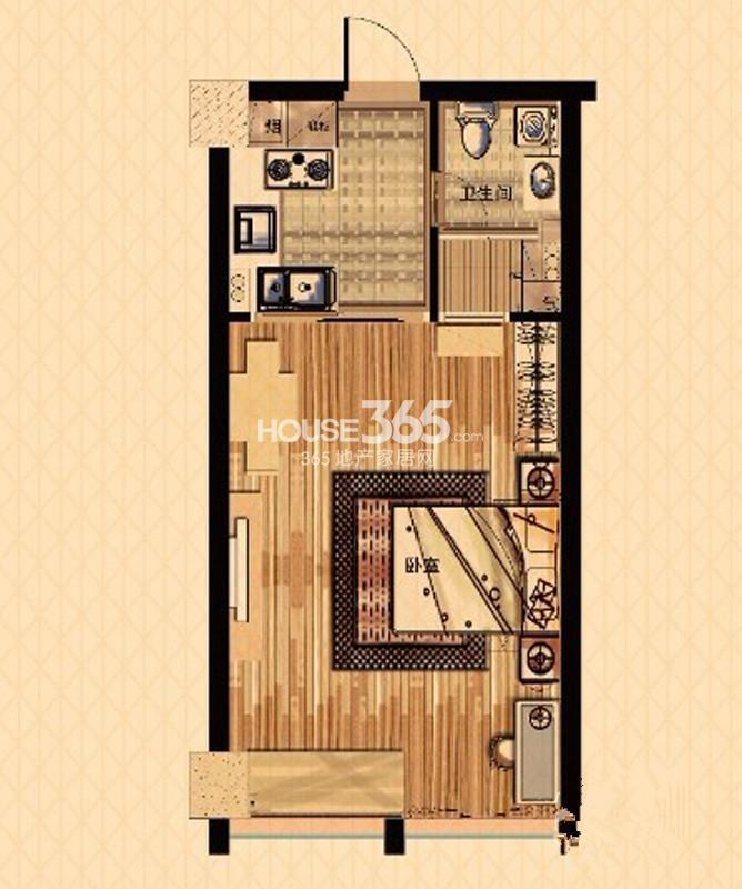中栋国际B户型(3号楼酒店式公寓)