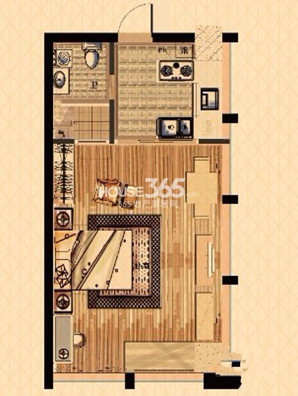 中栋国际A户型(3号楼酒店式公寓)