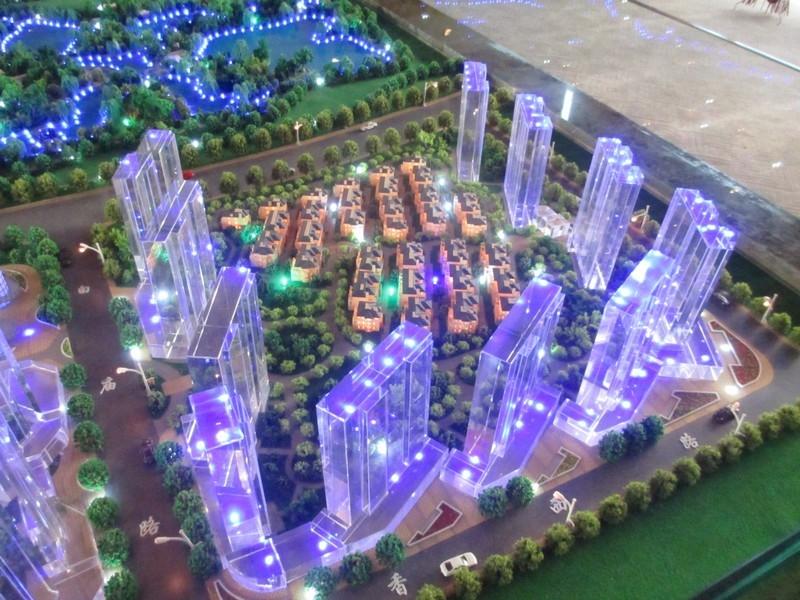 世园大公馆一期高层1-11#楼高层以及别墅区沙盘图(20130829)