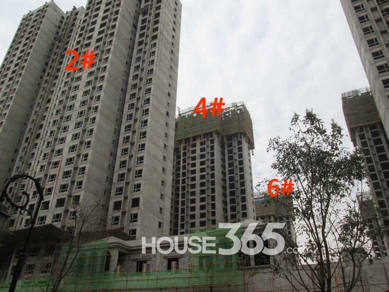 华远海蓝城2/4/6#楼施工进度图(20130830)