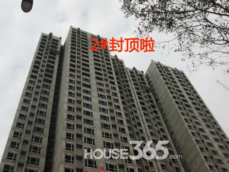 华远海蓝城2#楼施工进度图(20130830)