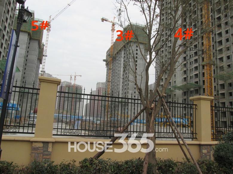 华远海蓝城3/4/5#楼施工进度图(20130830)