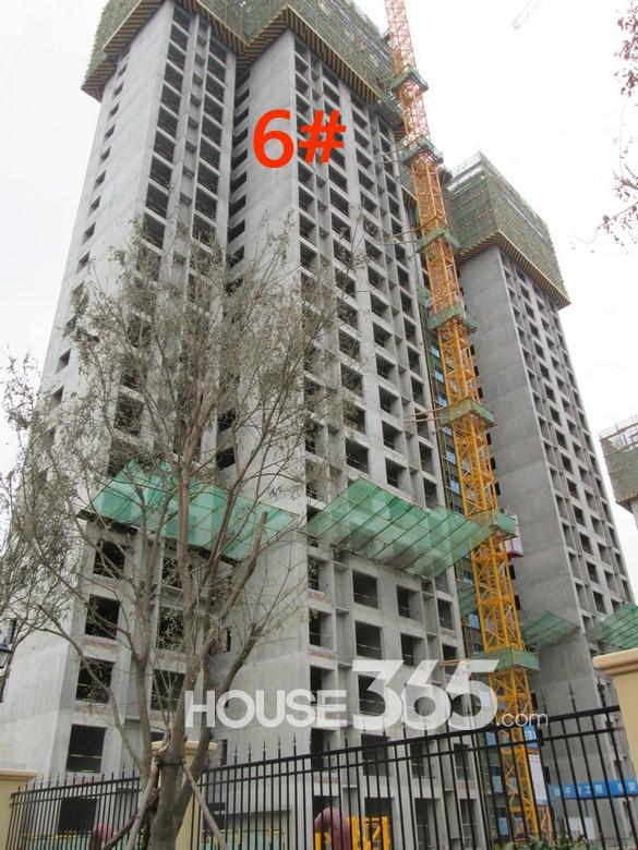 华远海蓝城6#楼施工进度图(20130830)