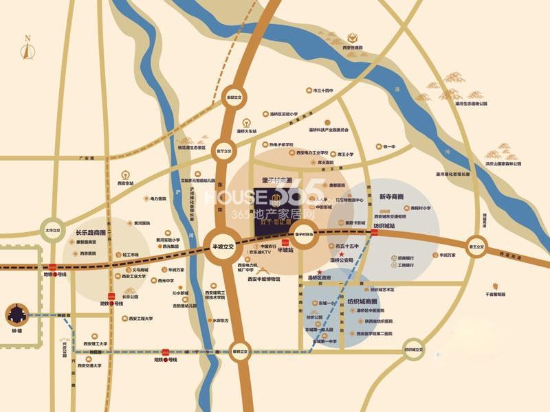 辰宇世纪城交通图