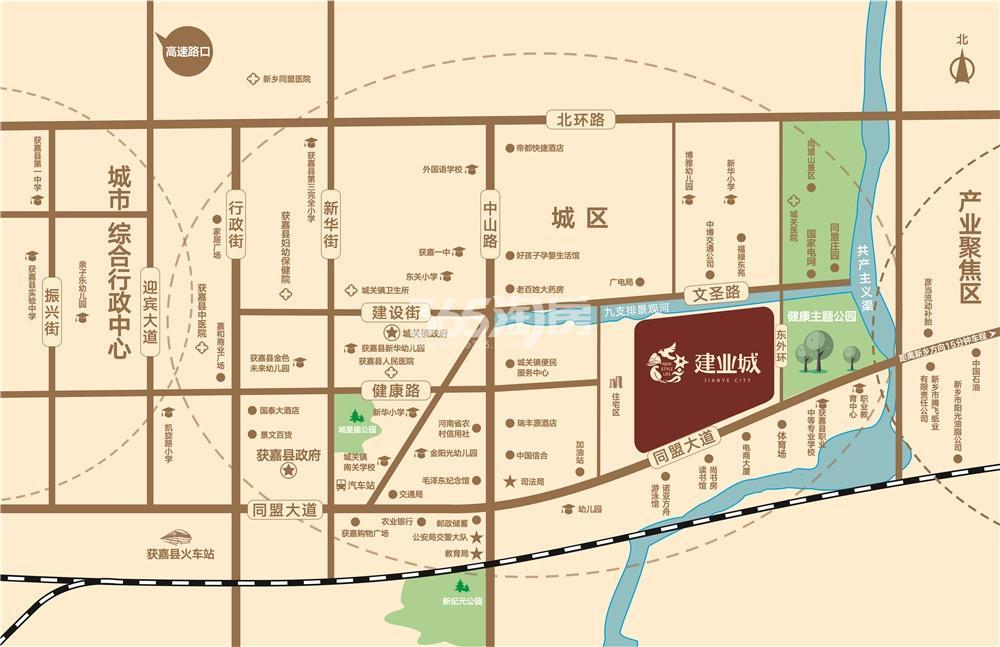 获嘉建业城交通图