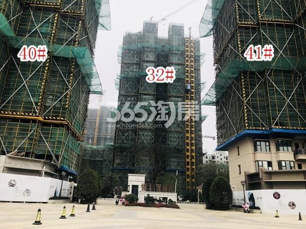 恒大观澜府B地块高层32#、33#、41#楼实景图(2018.6 摄)