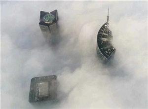 雾锁庐州 仙境中的合肥