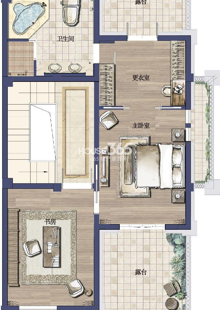 户型图 御园 A户型 272平米-3层