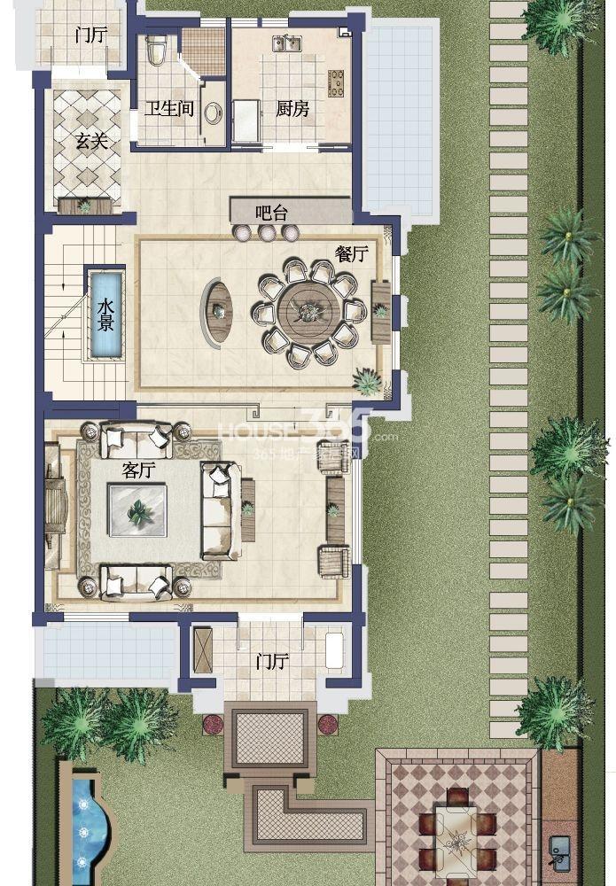 户型图 御园 A户型 272平米-1层