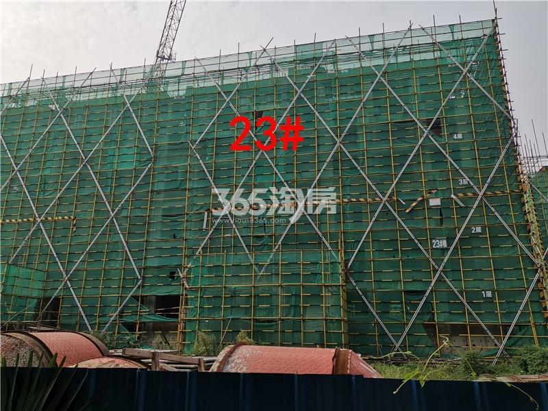 绿地理想城悦湖公馆在建23#楼实景图(8.26)