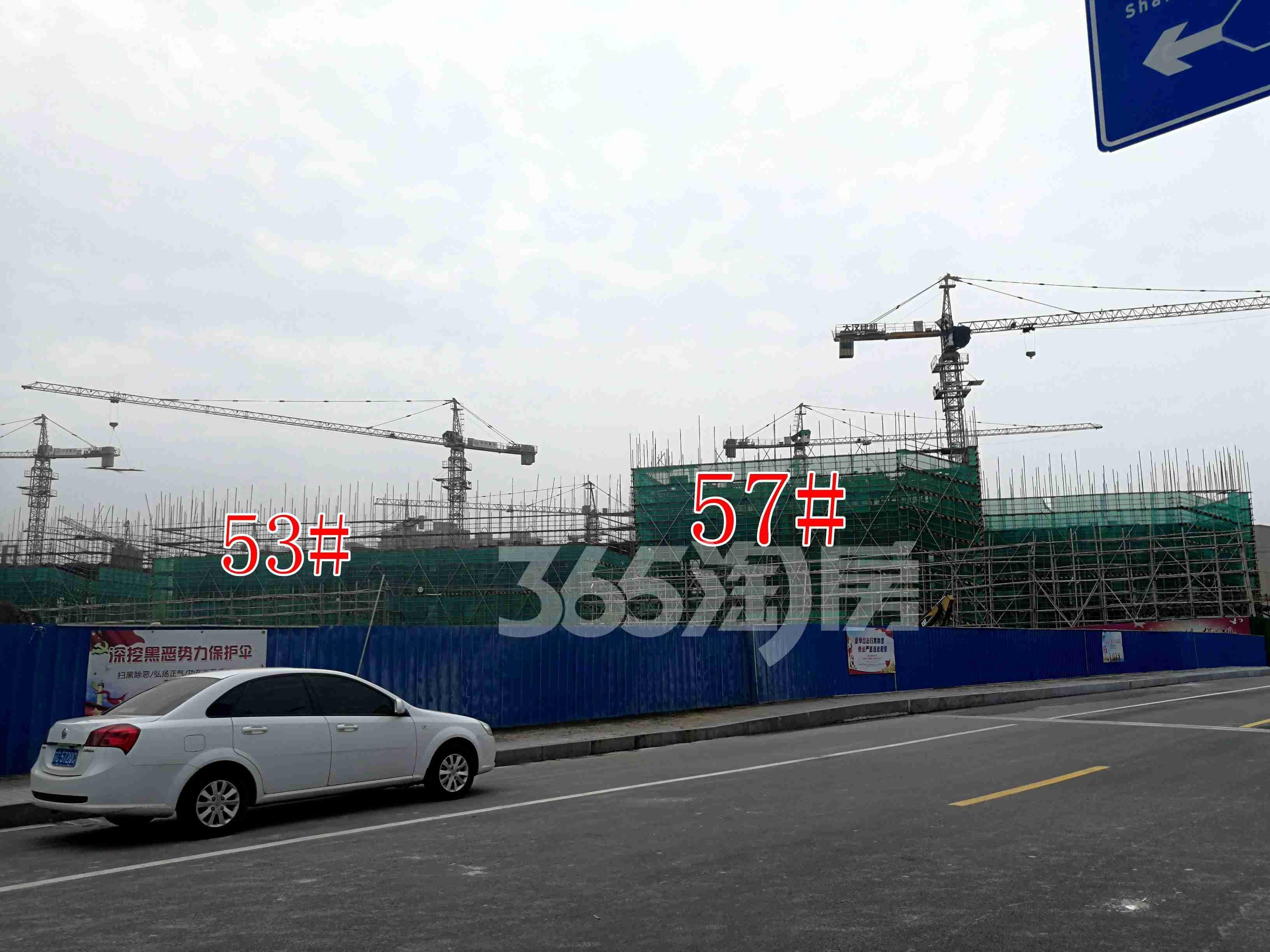 观澜别院53、57#工地实景图(8.26)