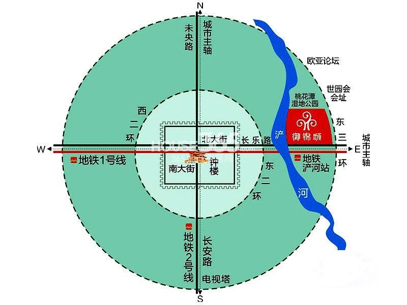 御锦城交通图