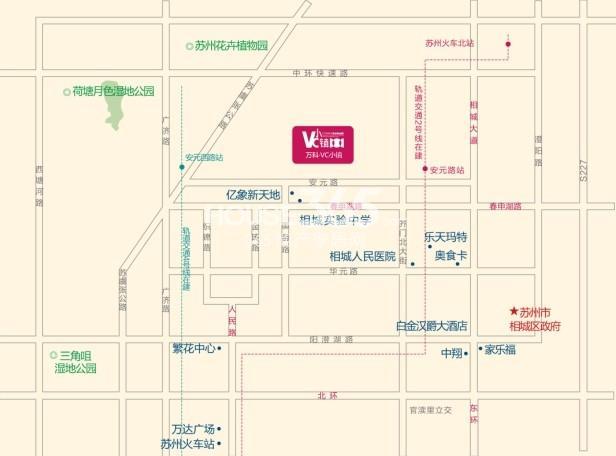 万科VC小镇交通图