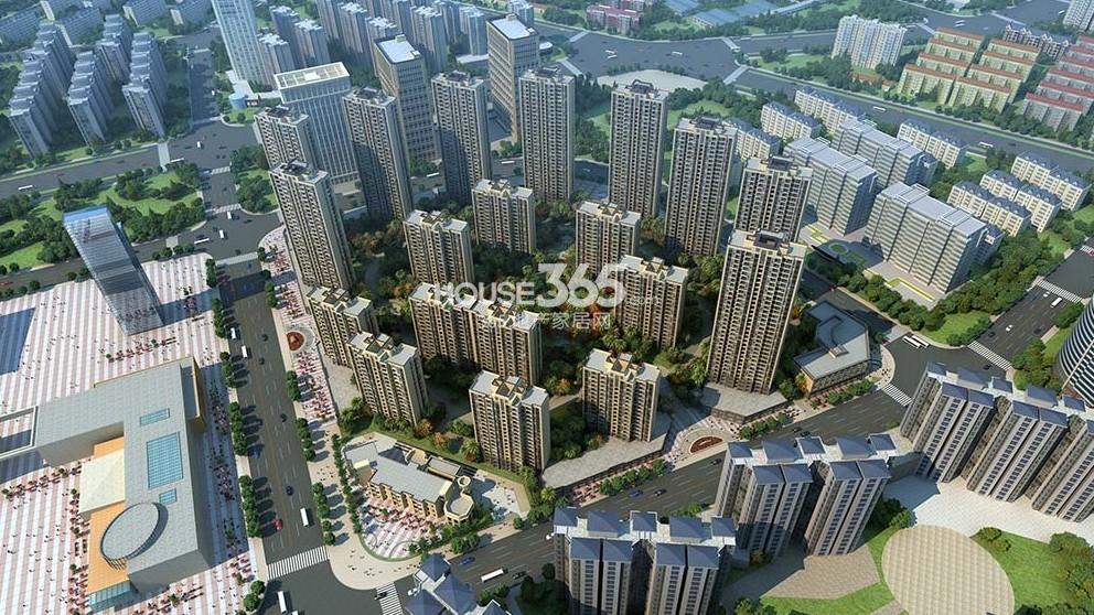 华城名府鸟瞰图