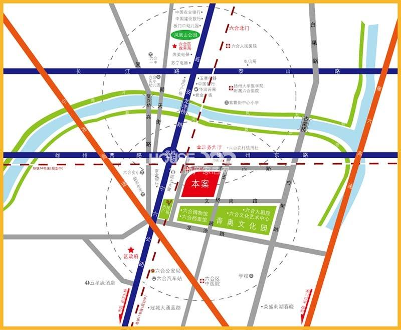 华城名府交通图