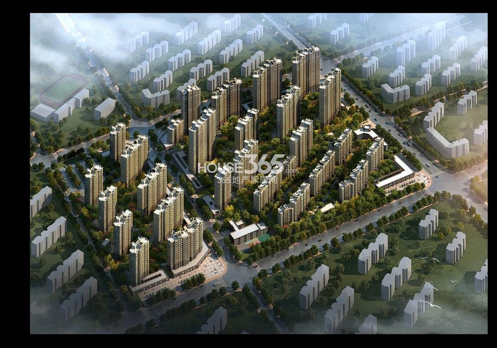 中海万锦熙岸鸟瞰图