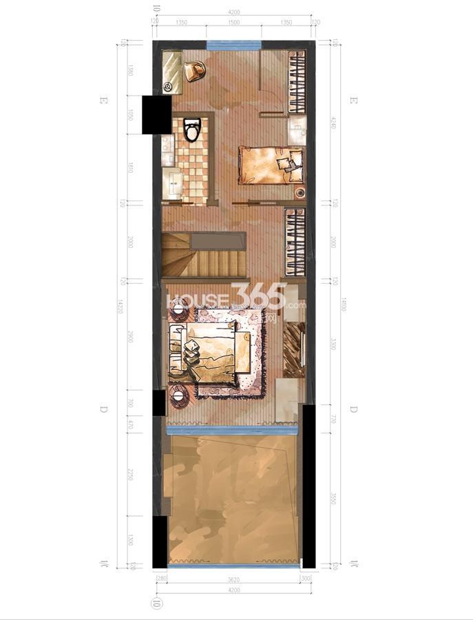 日信国际DOUBLE时代12.6m平面图