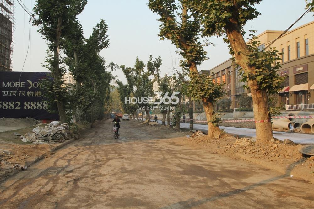 世茂外滩新城临近的唐山路实景图(12.23)