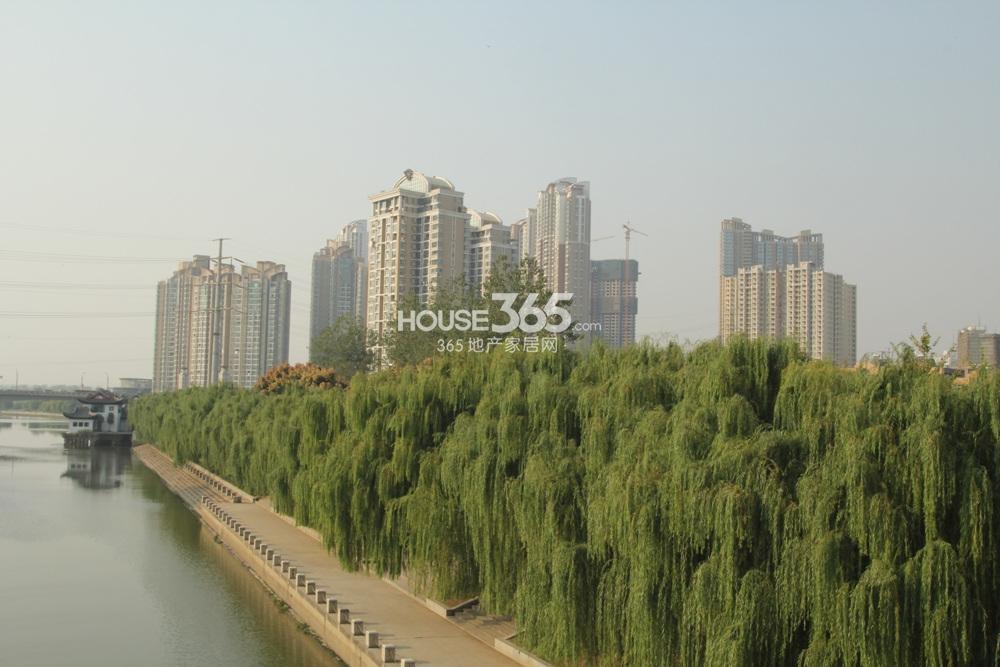 从三汊河上远远看到的世茂外滩新城(12.23)