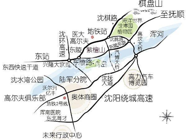 新希望紫檀山交通图