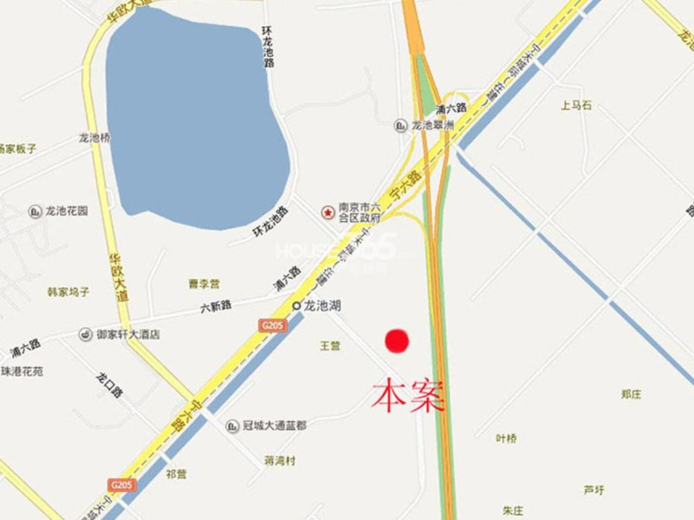 中北龙池湾交通图