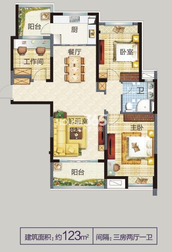 高淳碧桂园123㎡ 三房两厅一卫