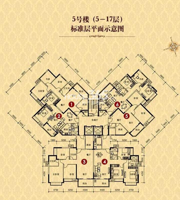 恒大华府5号楼5-17层(售罄)