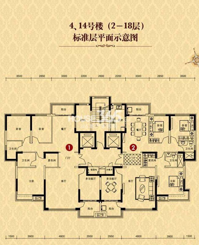 恒大华府4/14号楼2-18层(售罄)
