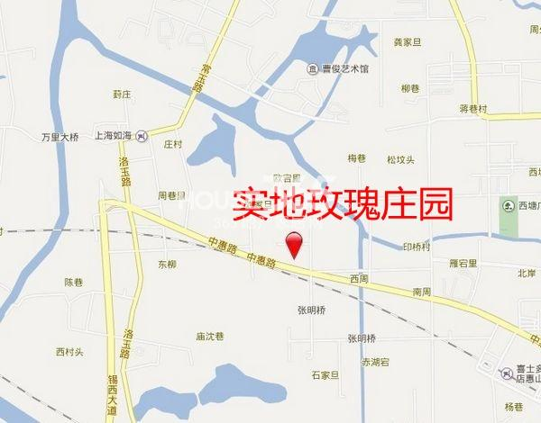 实地玫瑰庄园交通图