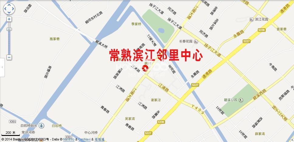 常熟滨江邻里中心交通图