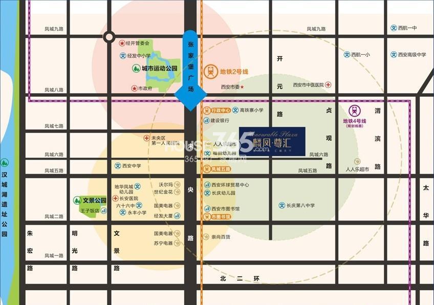麟凤尊汇交通图