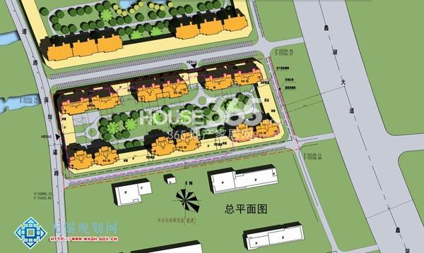 无锡万达文化旅游城住宅局部平面图