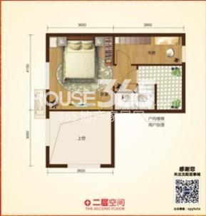 亚泰城F3户型图 一层空间户型图 50.24平